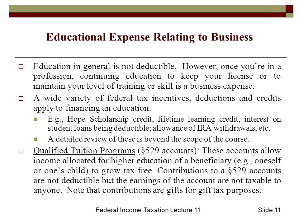 education business expense