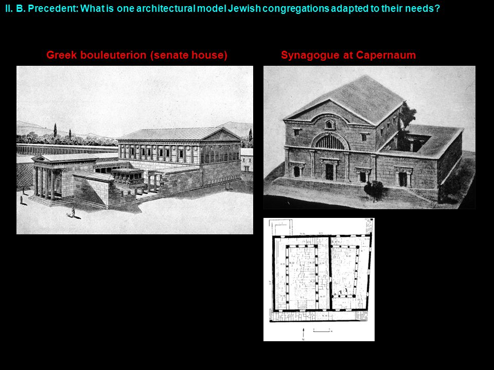 II. B. Precedent: What is one architectural model Jewish congregations adapted to their needs.