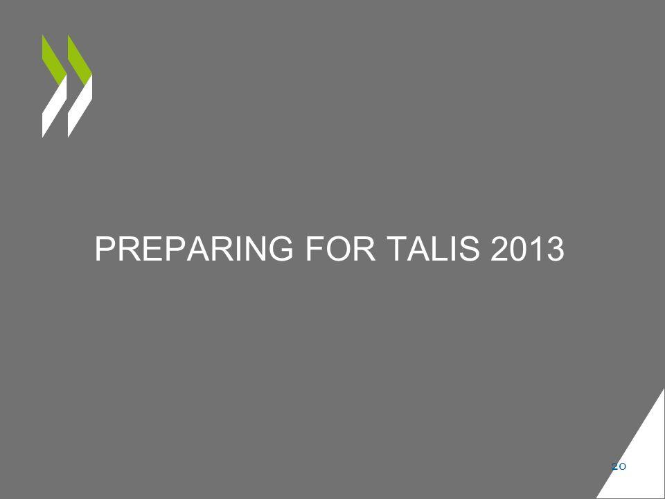 PREPARING FOR TALIS 2013 20