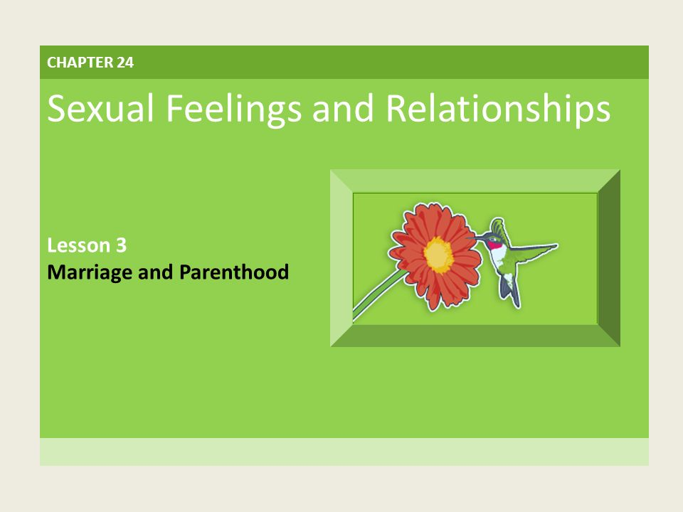 The Strain of Teen Parenthood LESSON 3 Marriage and Parenthood BIG IDEA Teens face many challenges in marriage and parenthood.