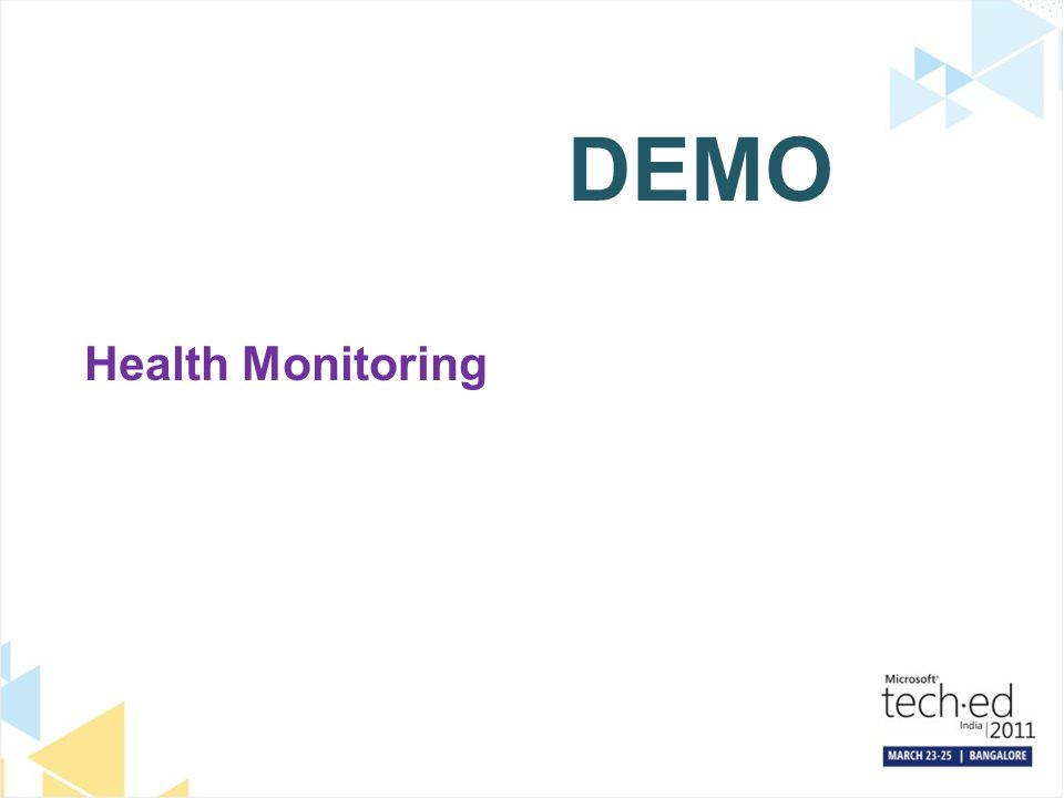 DEMO Health Monitoring