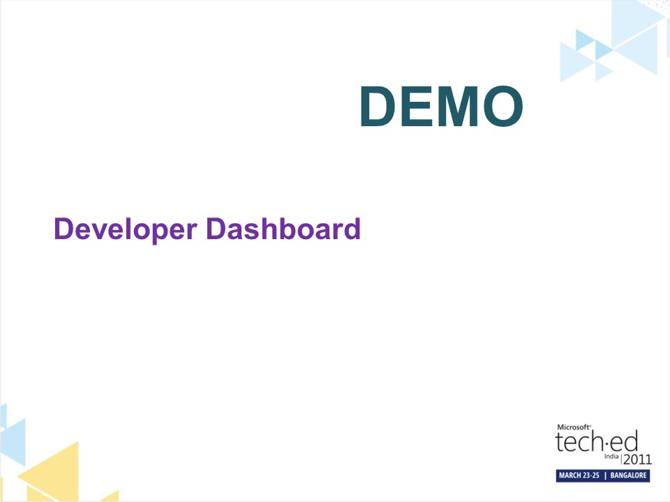 DEMO Developer Dashboard