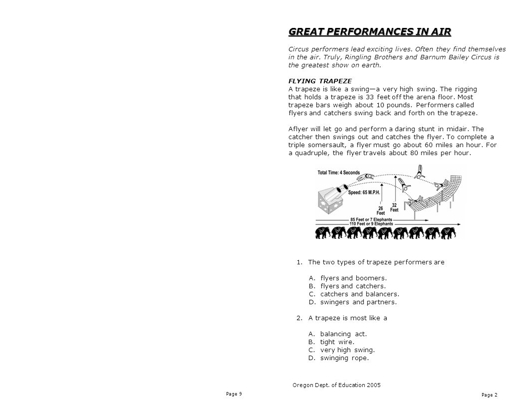Page 11 Blank Most questions for Grade 4 OAKS, Demonstrate a General ...