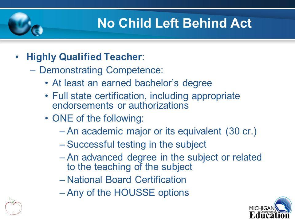 no child left behind act doubts
