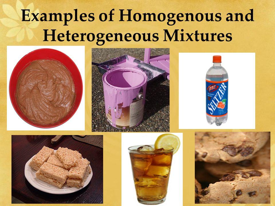 Mixtures Examples