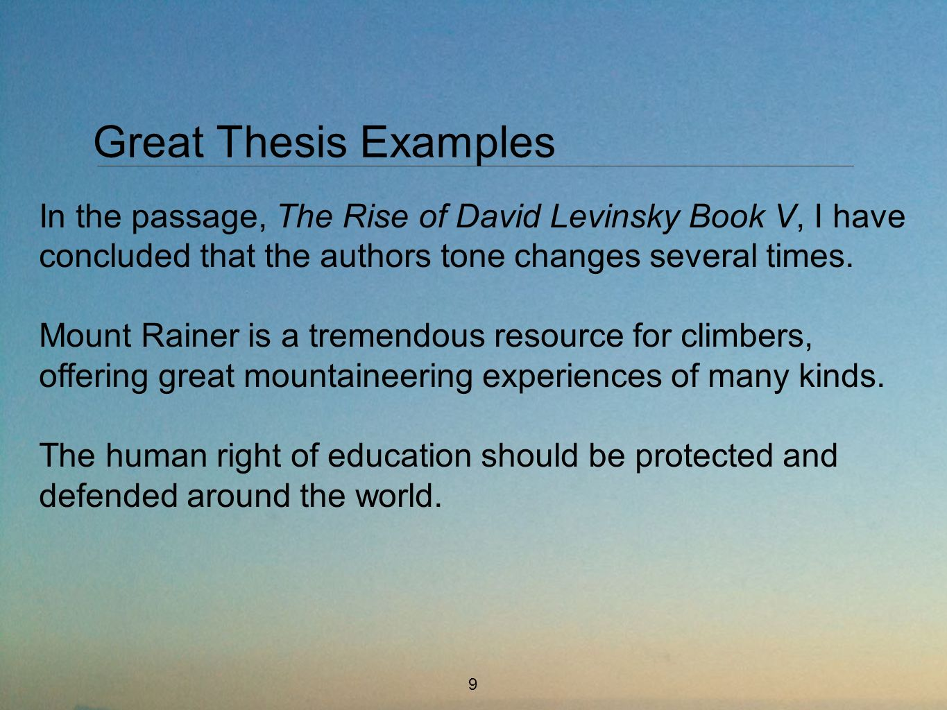 a great thesis