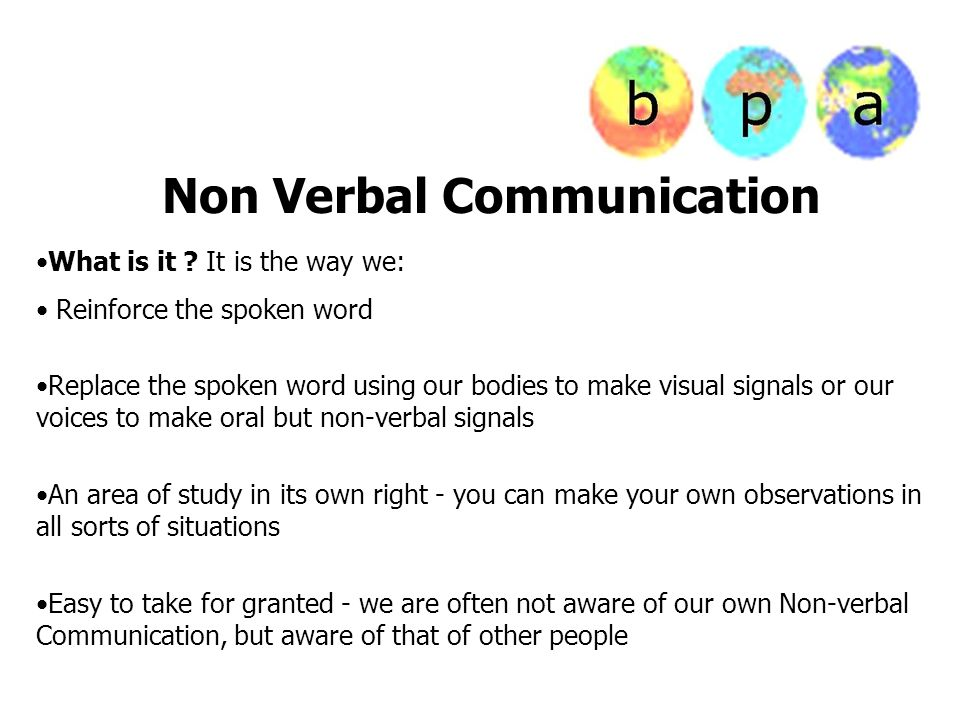 how to use effectively nonverbal communication when