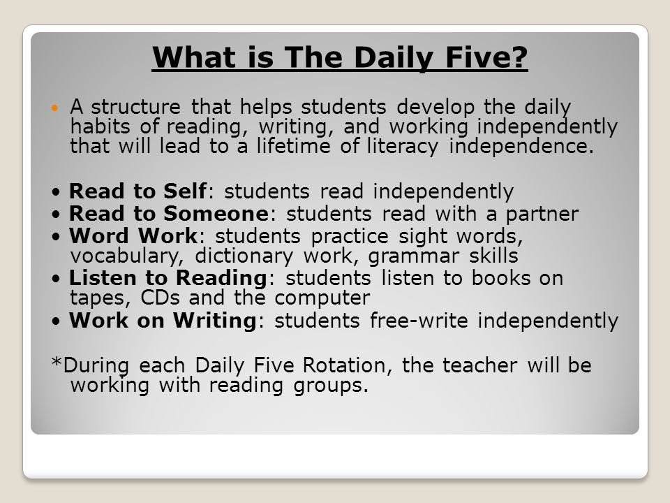What is The Daily Five.