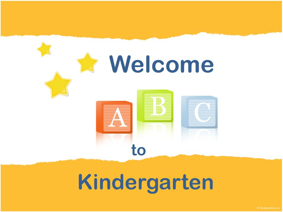 Kindergarten Welcome to