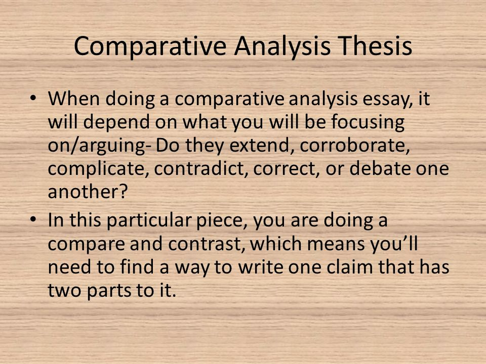 comparative paper essay Think of a multiple book review essay as a type of compare and contrast paper similar to what you may have written for a general issue the comparative essay.
