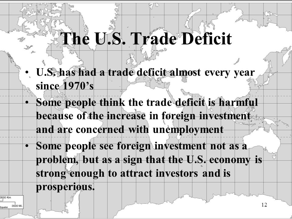 12 The U.S. Trade Deficit U.S.