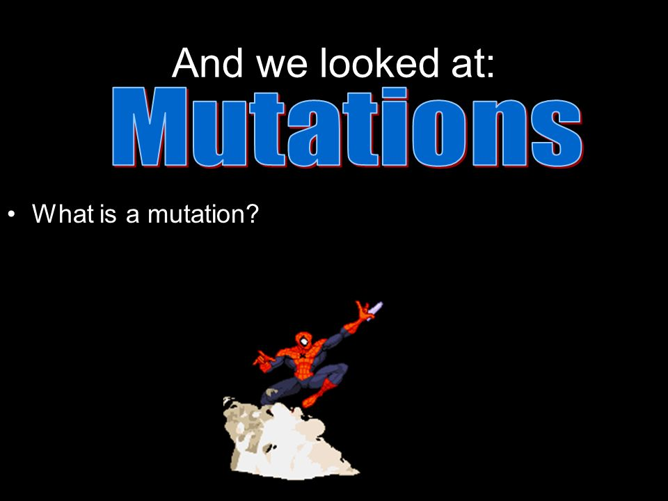 And we looked at: What is a mutation