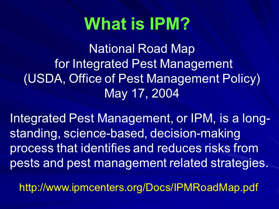National Road Map For Integrated Pest Management (USDA, Office Of Pest  Management Policy)