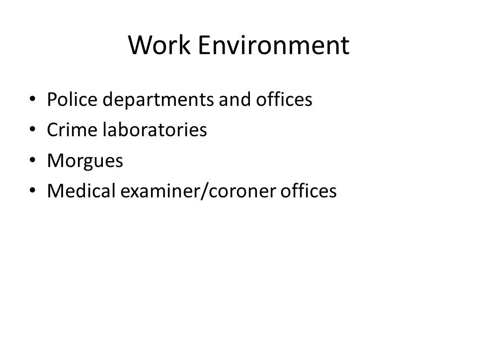 Forensic Video Job Description Employment Of Forensic Science