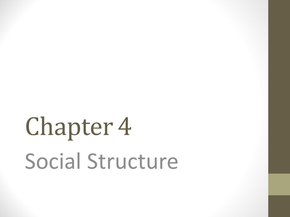 Social structure gives society its enduring characteristics and makes patterns of human interaction predictable.