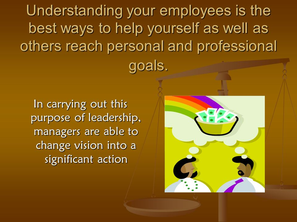 Understanding your employees is the best ways to help yourself as well as others reach personal and professional goals.