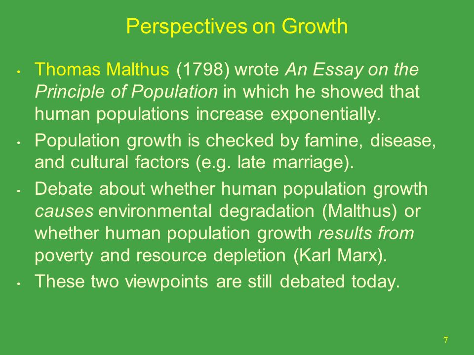 Essay About Population Growth