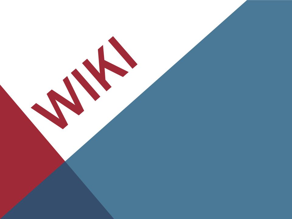 WHAT IS A WIKI .