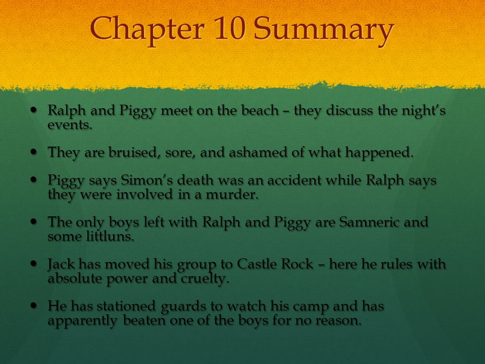 lord of the flies chapter summaries