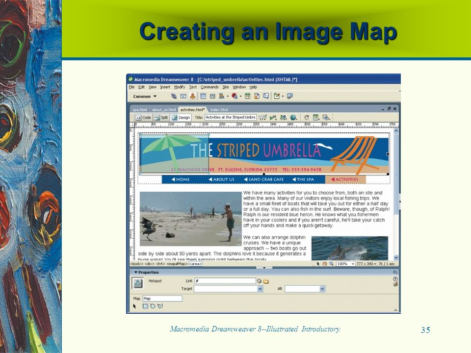 Macromedia Dreamweaver 8--Illustrated Introductory 35 Creating an Image Map