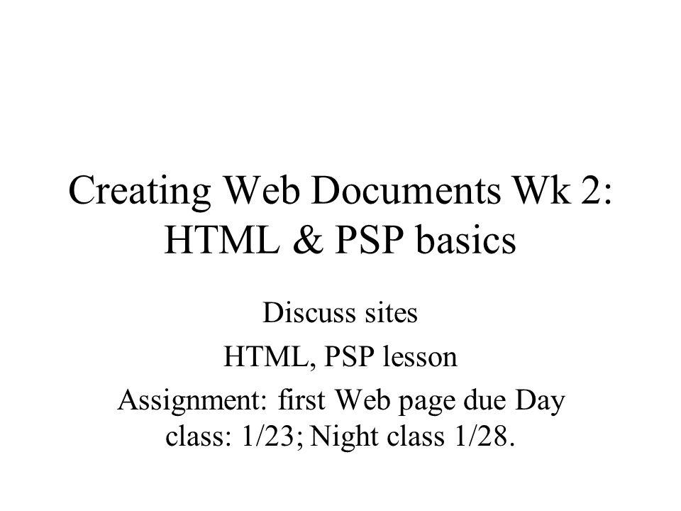 Assignment sites