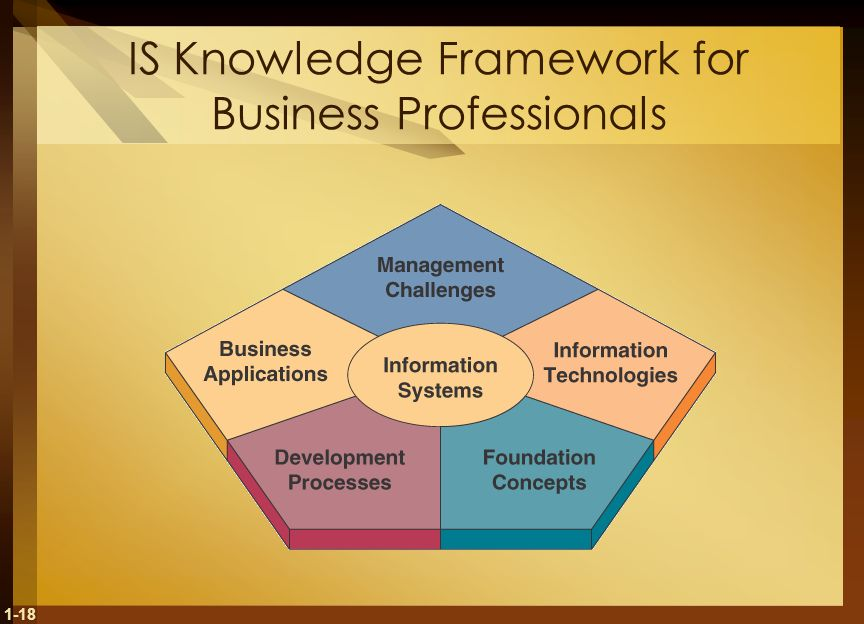 1-18 IS Knowledge Framework for Business Professionals