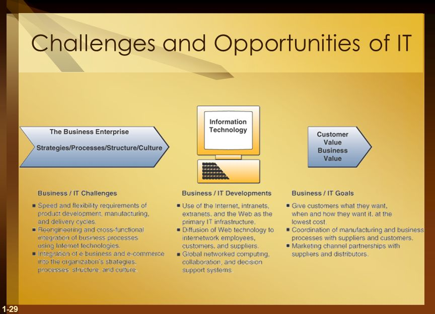 1-29 Challenges and Opportunities of IT