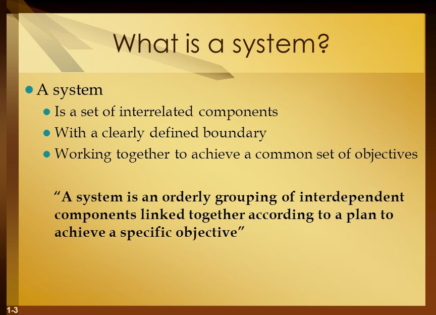 1-3 What is a system.