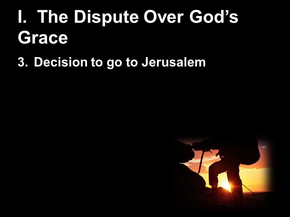 dispute over jerusalem
