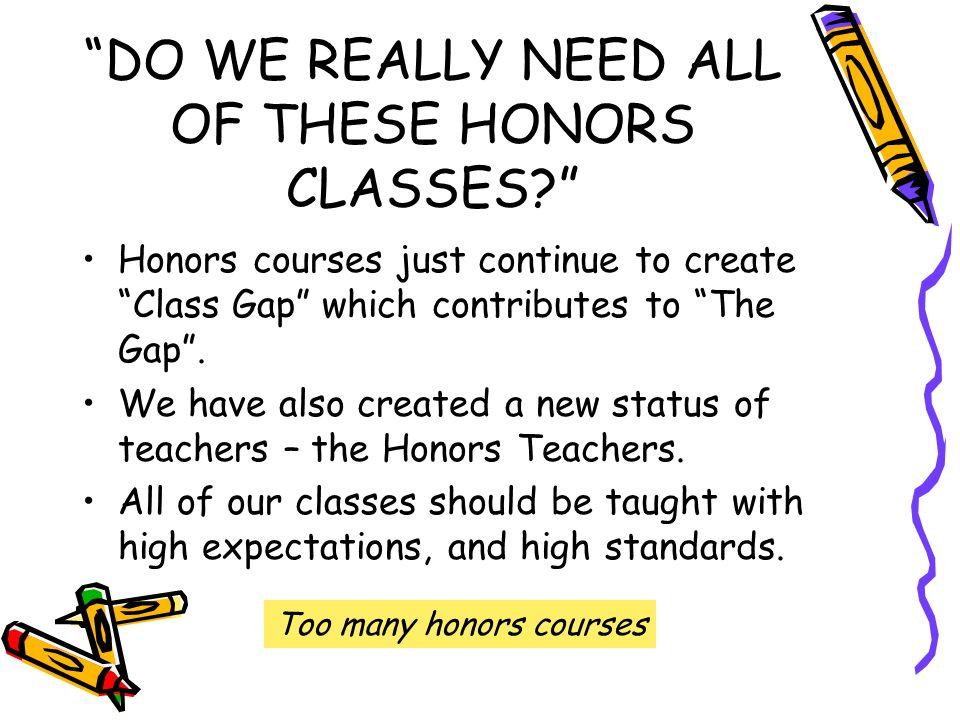 Honors Classes?