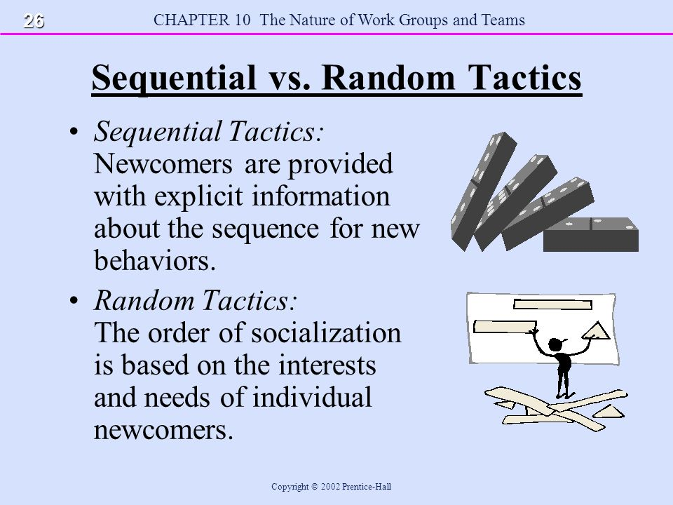 CHAPTER 10 The Nature of Work Groups and Teams Copyright © 2002 Prentice-Hall Sequential vs.