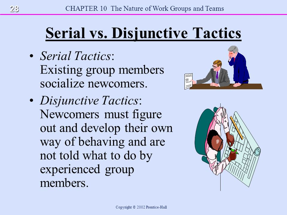 CHAPTER 10 The Nature of Work Groups and Teams Copyright © 2002 Prentice-Hall Serial vs.