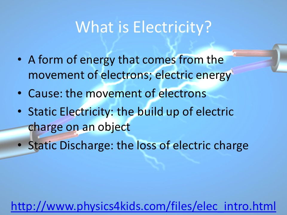 What is Electricity.