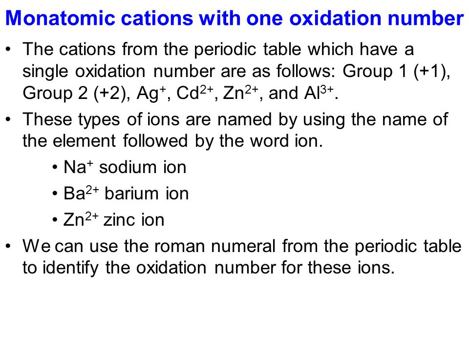 chapter 10 7a ions monatomic ions ion formulas and names ppt periodic table oxidation numbers - Periodic Table Oxidation Numbers
