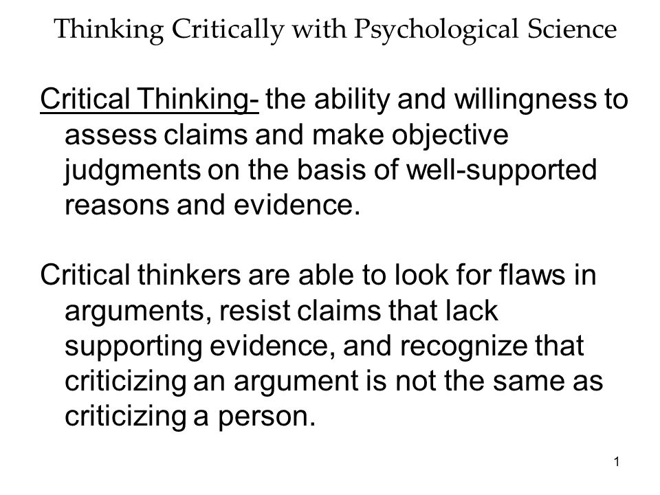 thinking critically with psychological science test Myers psychology for ap study guide answers manual thinking critically with psychological science key contributors thinking critically with psychological.
