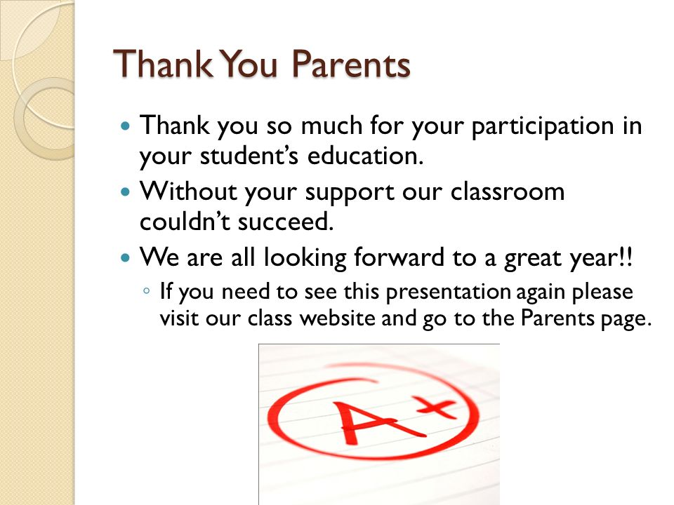 Events: Parent Nights Every 9 weeks we will be preparing another parents night.