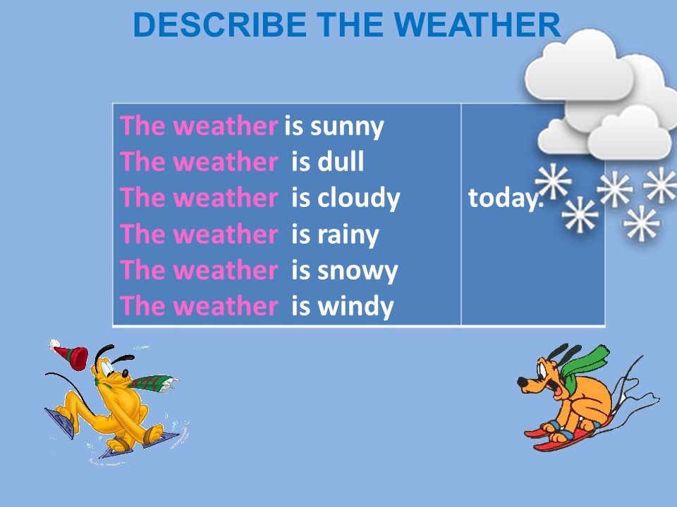describe weather