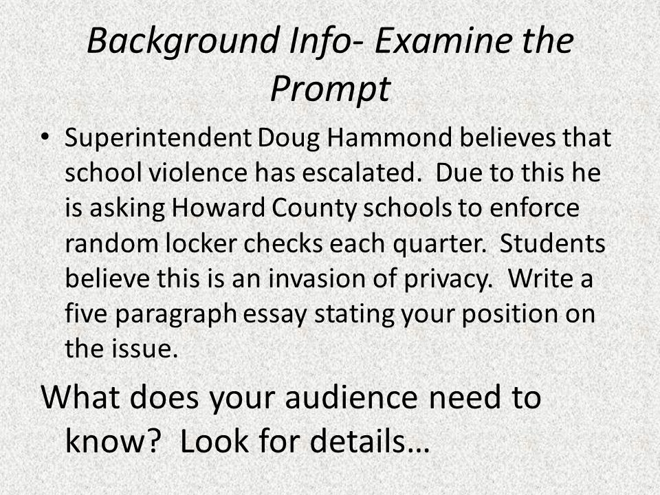 School violence essay 5 paragraph essay blueprint introduction hook 5 paragraph essay blueprint introduction hook background claim background info examine the prompt superintendent doug hammond malvernweather Images