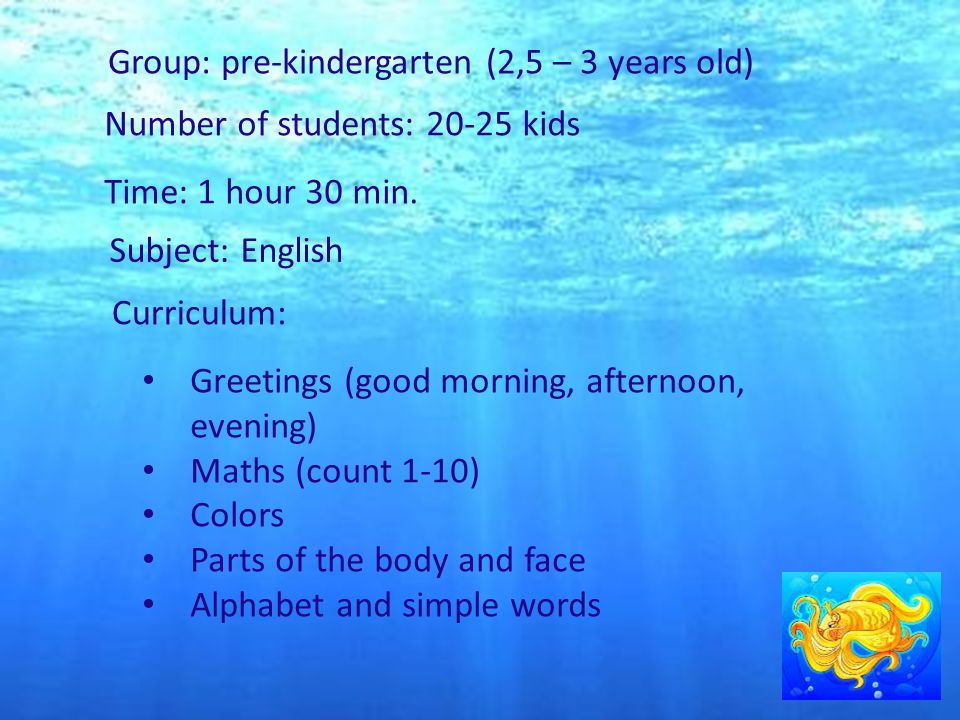 Lesson for pre k group 25 3 years at the seaside ppt download group pre kindergarten 25 3 years old number of m4hsunfo Image collections