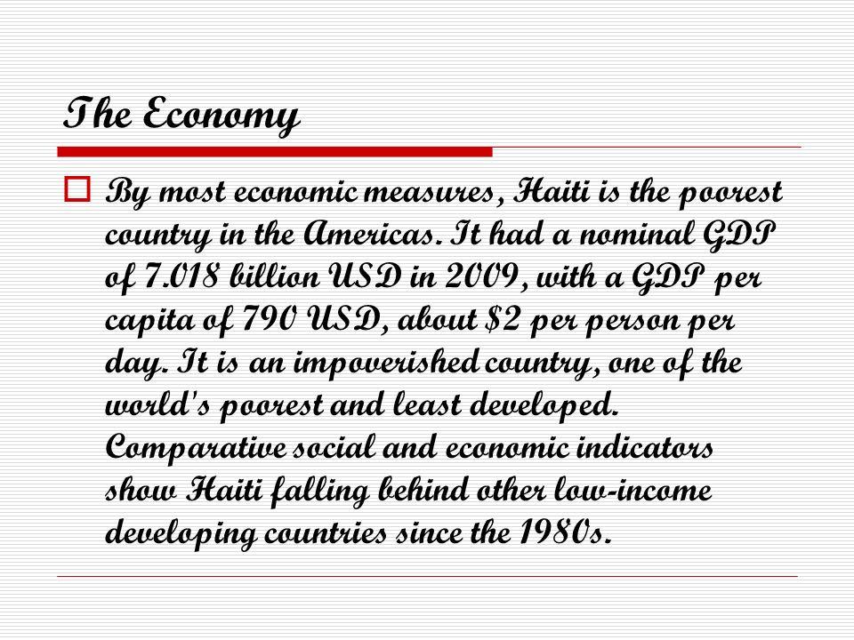 Haiti By Natasha Thompson Overview Haiti Is A Caribbean - Poorest caribbean countries