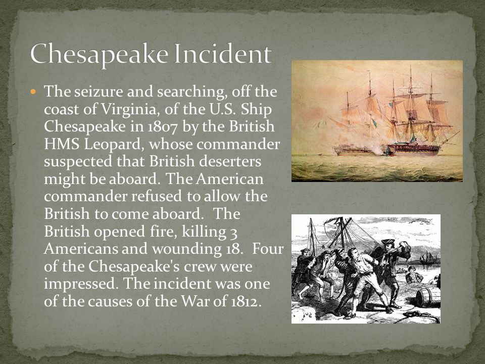 The seizure and searching, off the coast of Virginia, of the U.S.