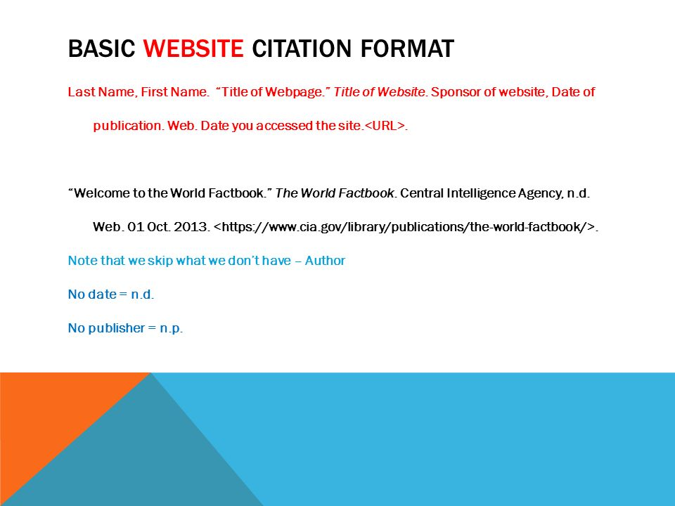 website mla citation