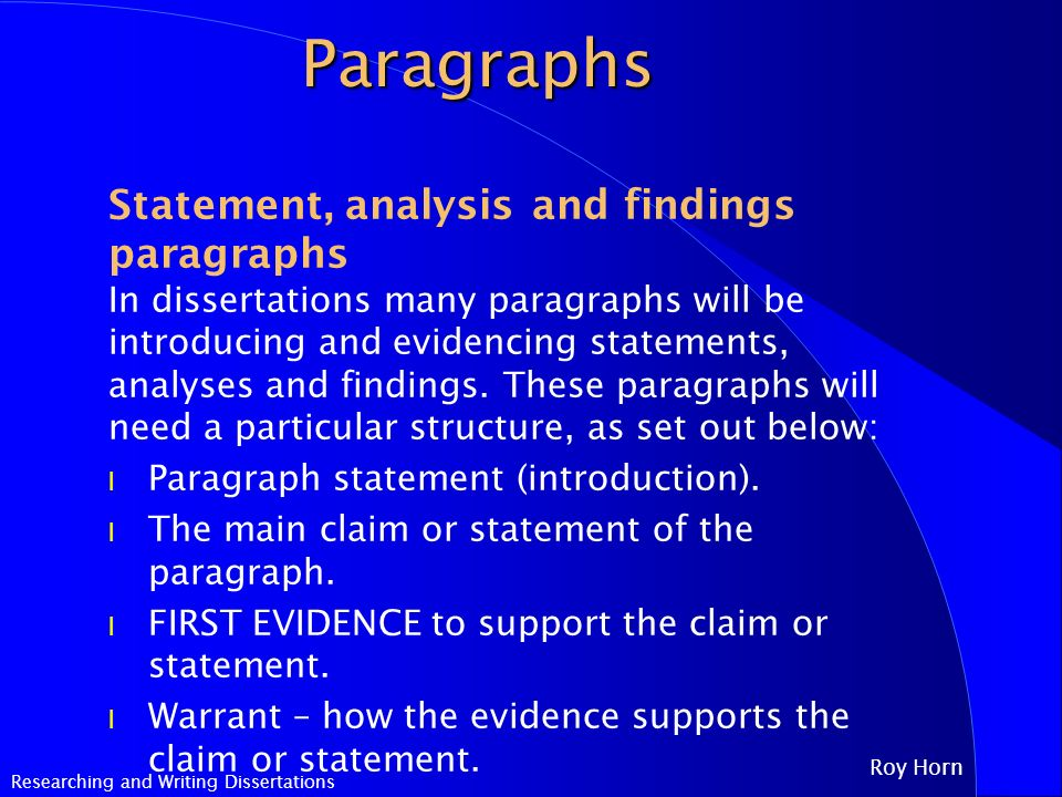 dissertation findings and analysis chapter A sample dissertation methodology normally methodology chapter comes after introduction and all questionnaires were 'collected and classified' and kept for subsequent analysis and held on file after the findings from my research are compared to findings from my background reading and of official.