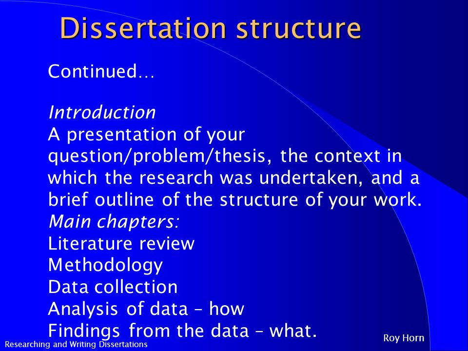 Dissertation Research And Writing