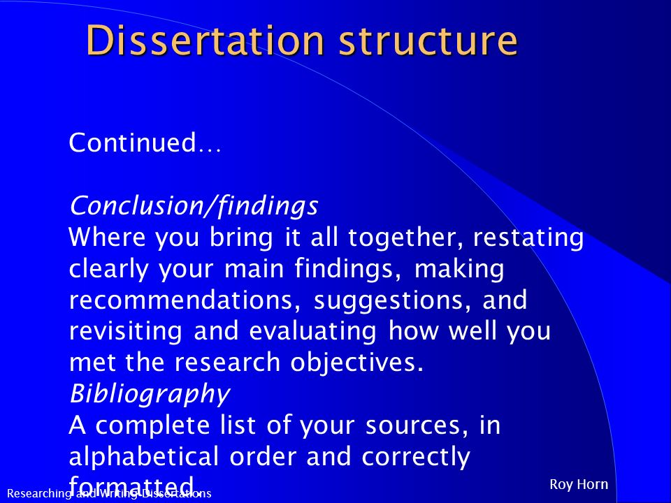How To Write A Science Dissertation