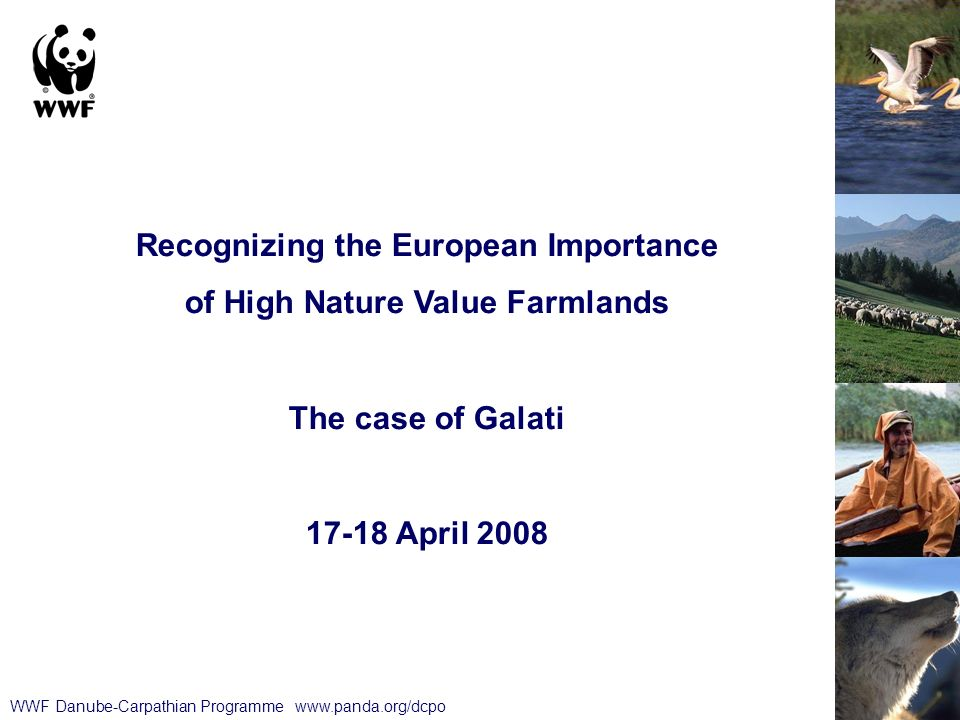 WWF Danube-Carpathian Programme   Recognizing the European Importance of High Nature Value Farmlands The case of Galati April 2008