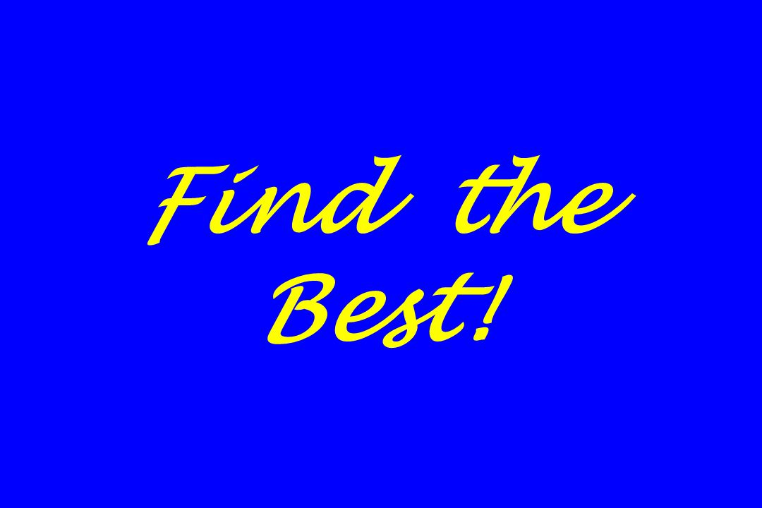 Find the Best!