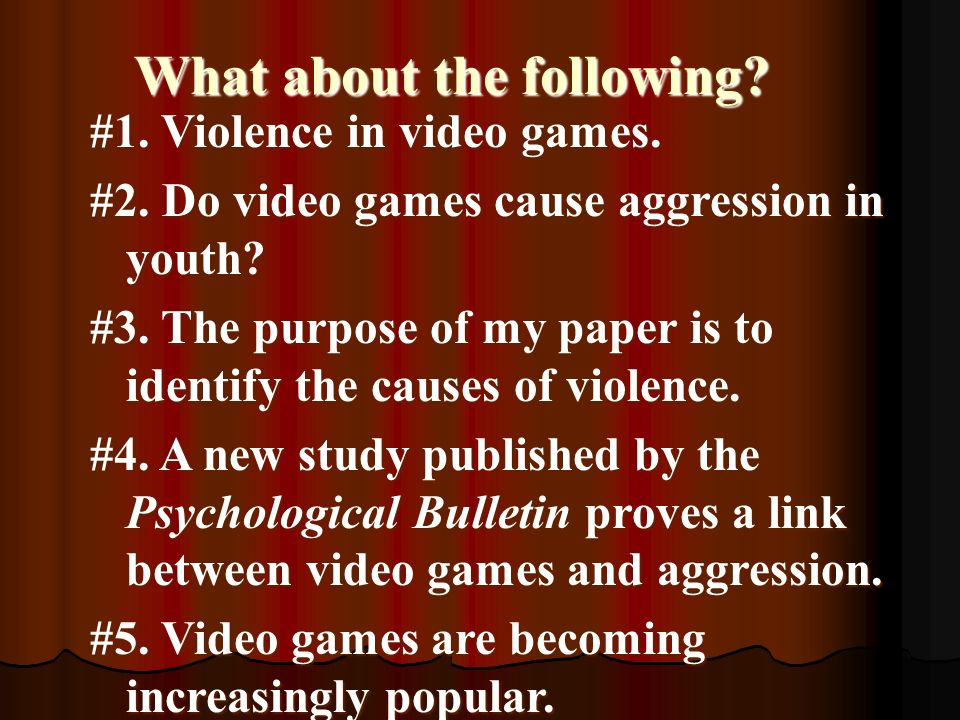 thesis statement about online games
