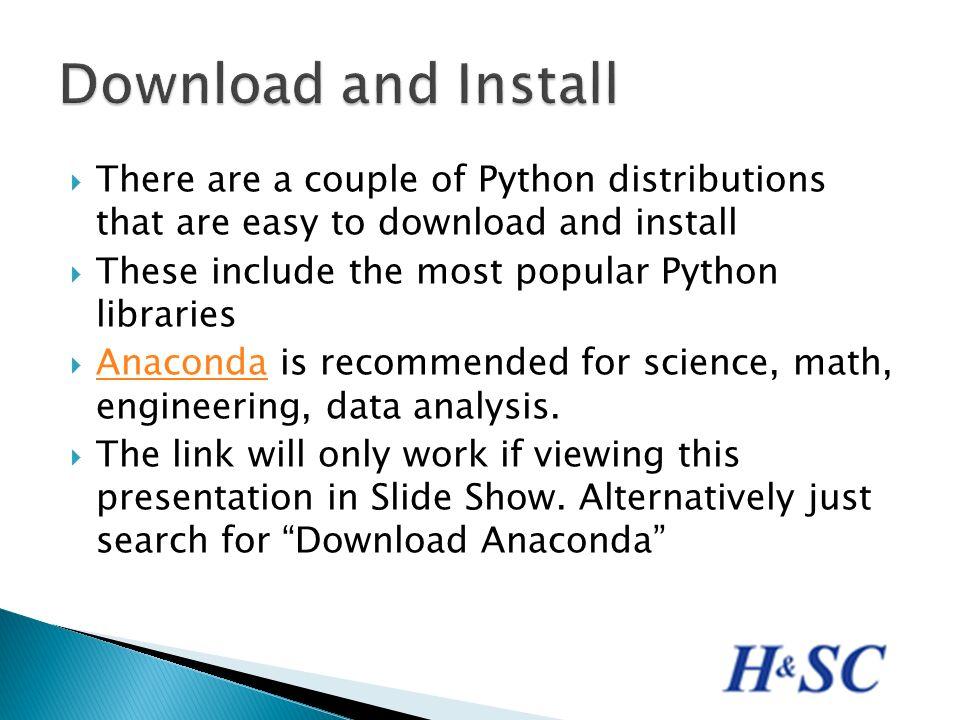 anaconda download python