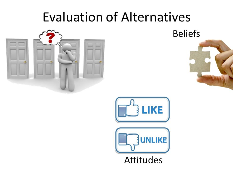 Evaluation of Alternatives Attitudes Beliefs